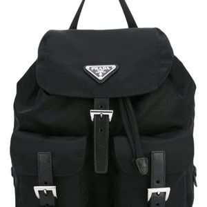 *AuthenticPrada black robot stud leather backpack*